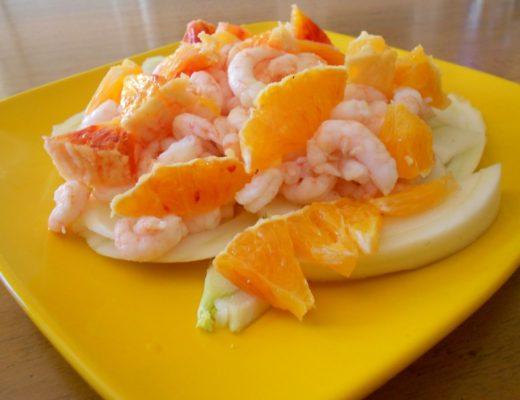Gamberetti con finocchi & arance