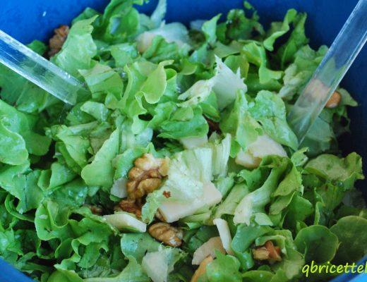 insalata con grana e noci