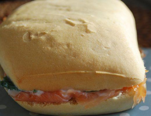 Panino salmone e rucola