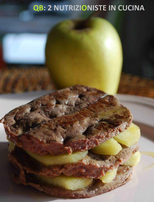 Fegato di vitello con mele caramellate