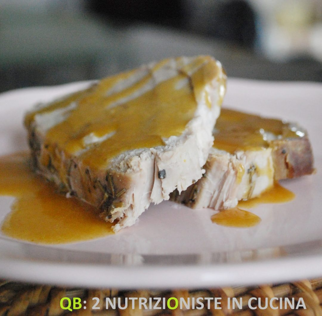 Filetto di maiale con salsa di arancia