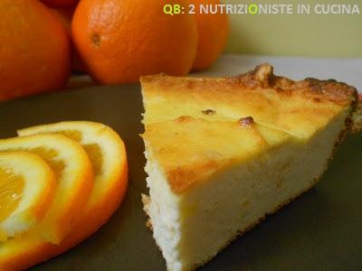 Torta di ricotta senza zucchero al profumo di arancia