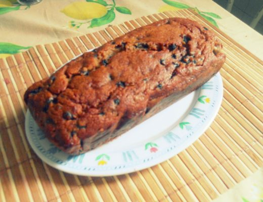 banana bread ai mirtilli