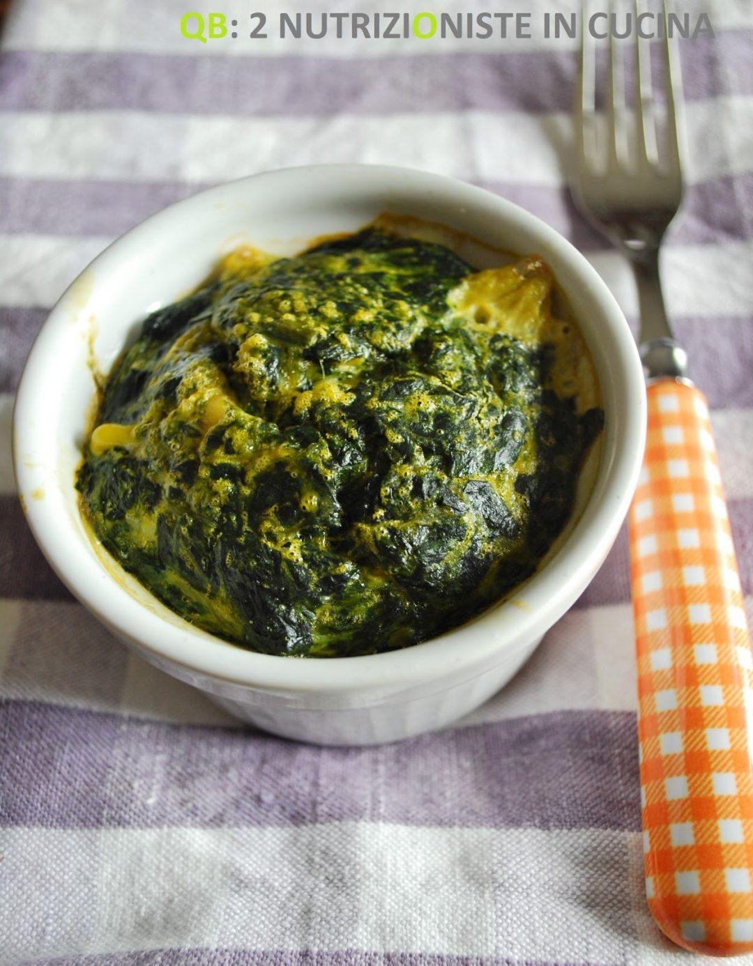 Cocotte al forno con spinaci