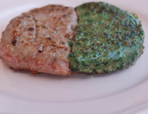 Hamburger con spinaci