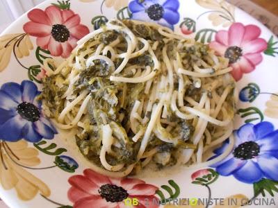 Spaghetti FiberPasta con crema di ricotta e spinaci