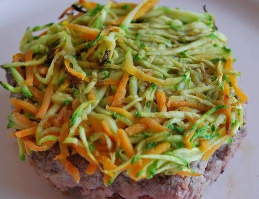 Hamburger con rosti di verdure