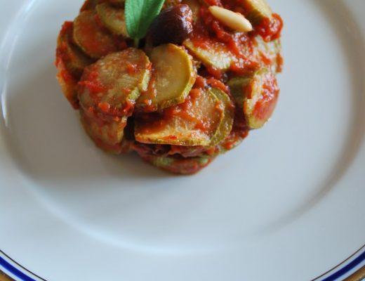 Caponatina light di zucchine