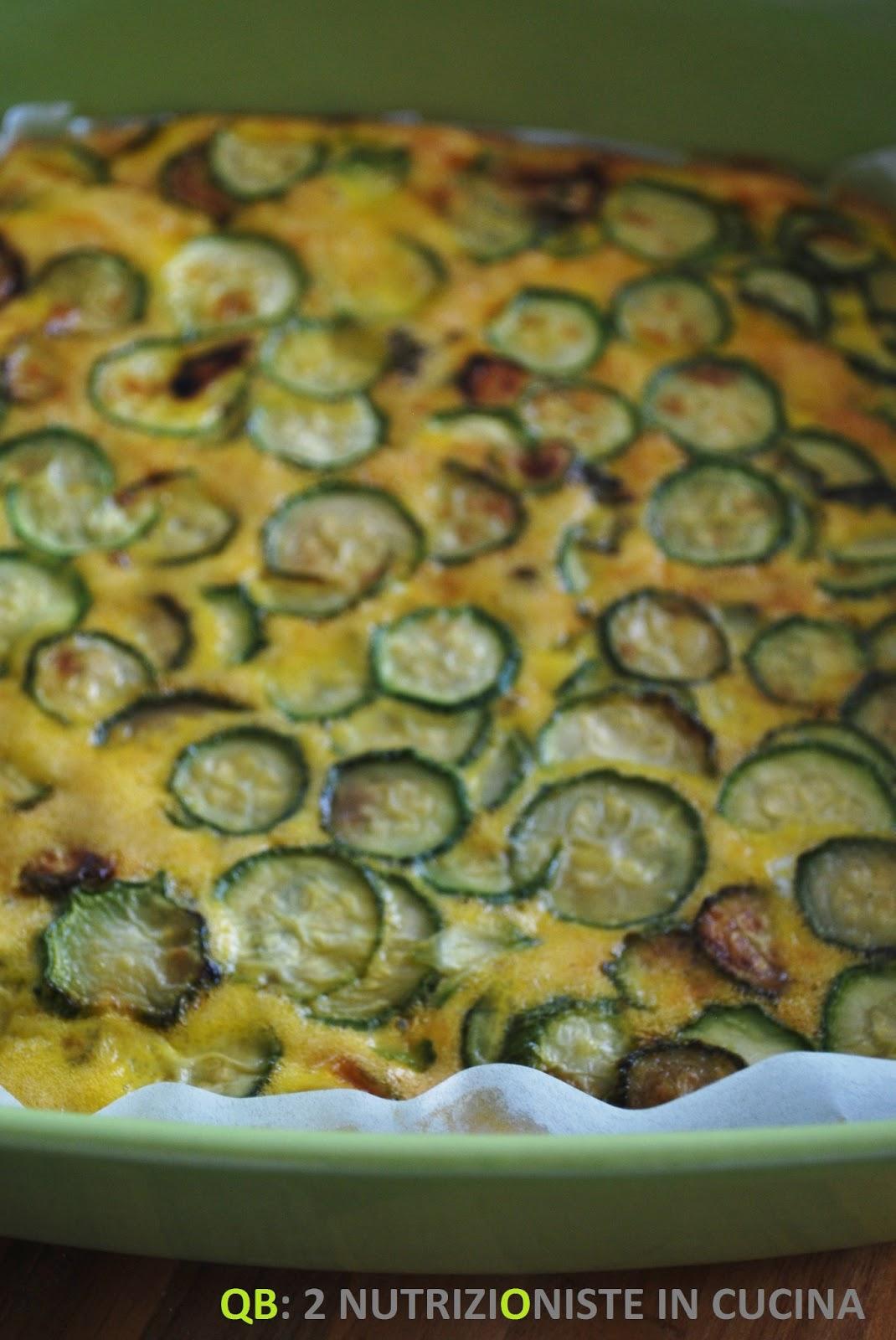 Frittata al forno con zucchine e maggiorana