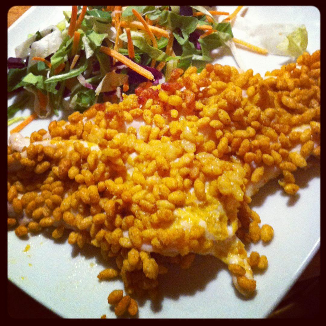 pollo al curry crunchy rice