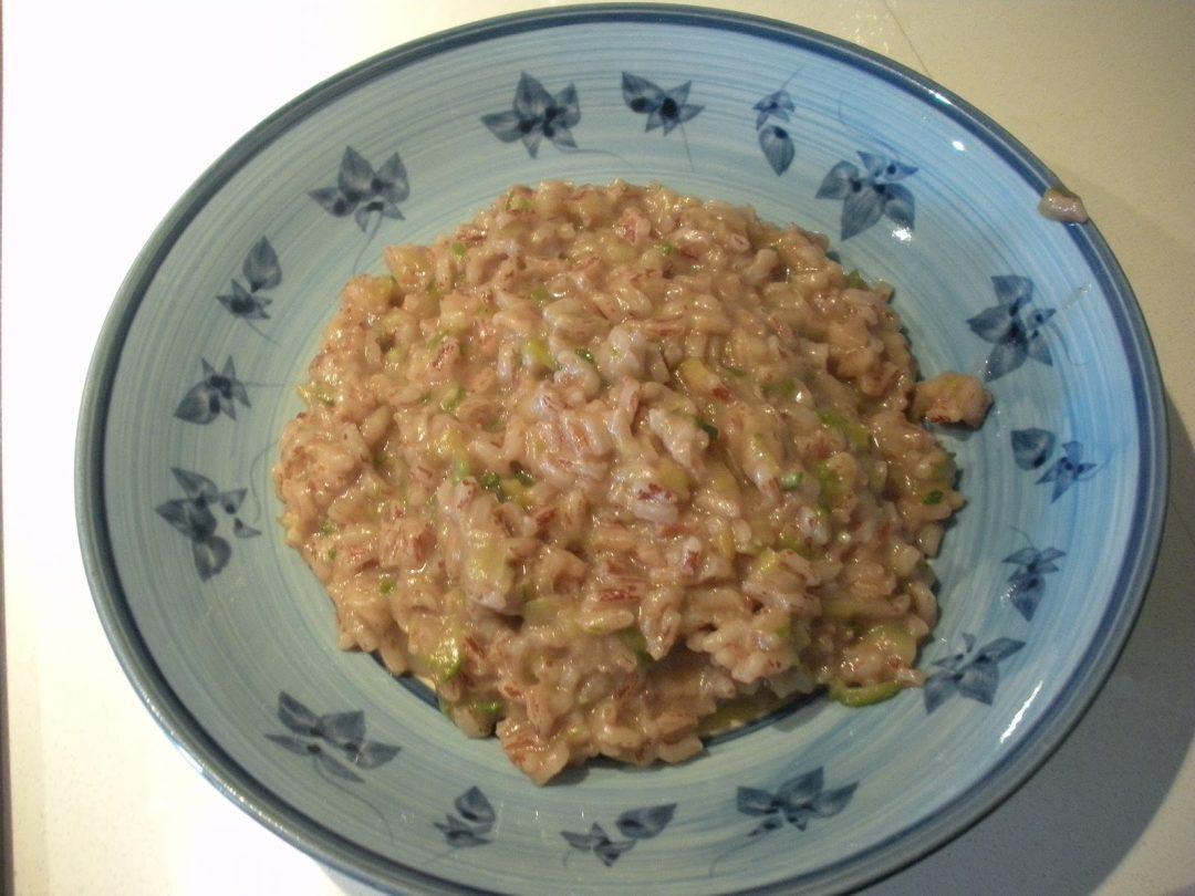 risotto porri e zucchine