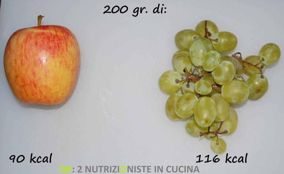 Mela contro uva