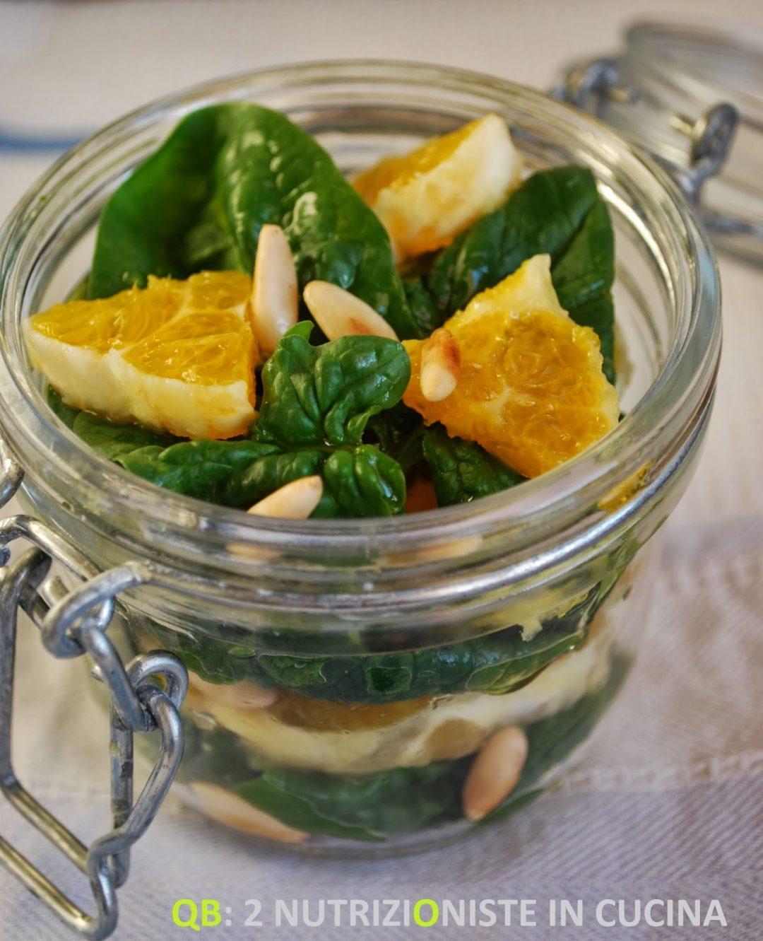 Insalata di spinacini e arance