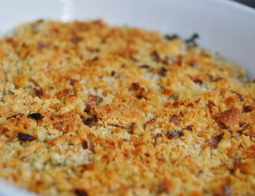 Crumble di spinaci