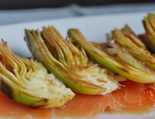 Salmone & carciofi al pompelmo