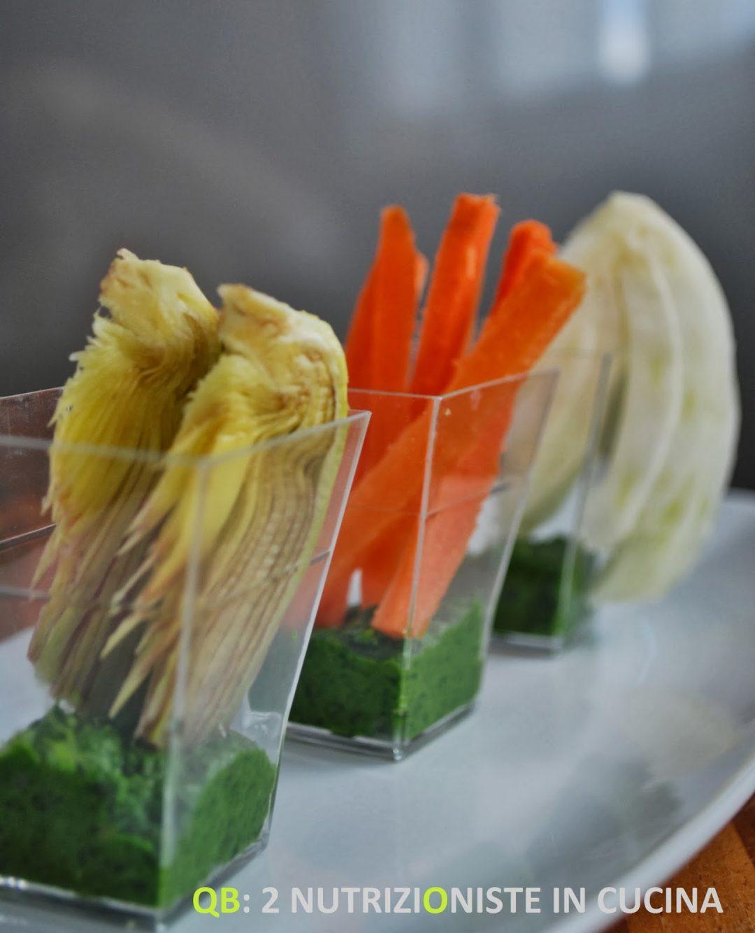 Tris di verdure con salsa prezzemolata