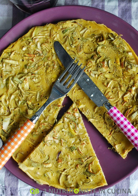 Farinata ai carciofi in padella