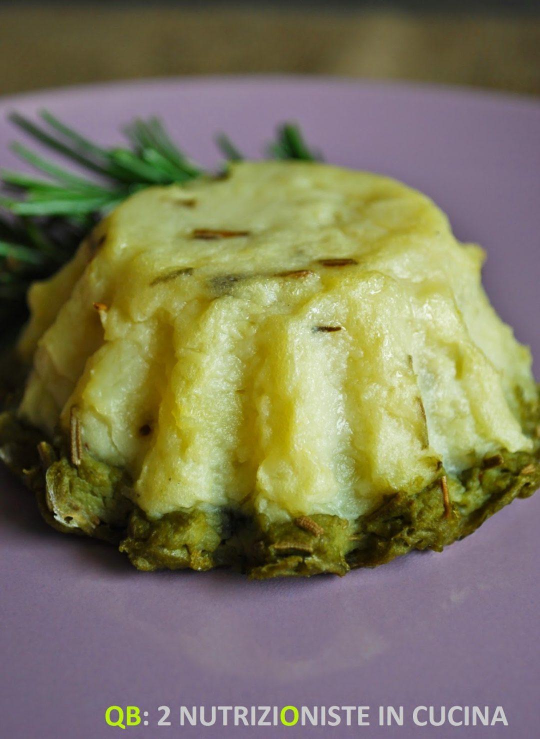 Sformatino di patate e fave