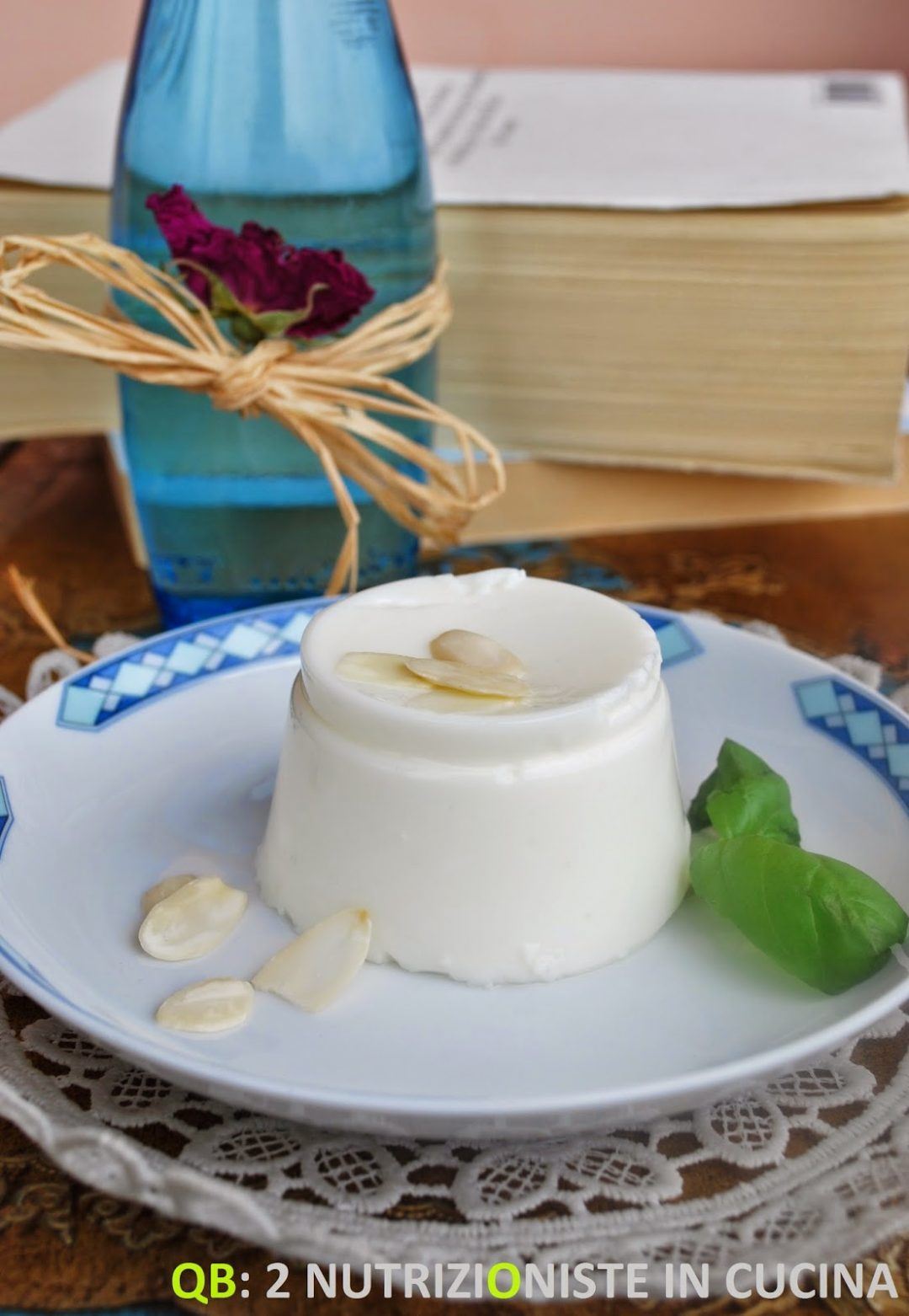 Panna cotta light al basilico