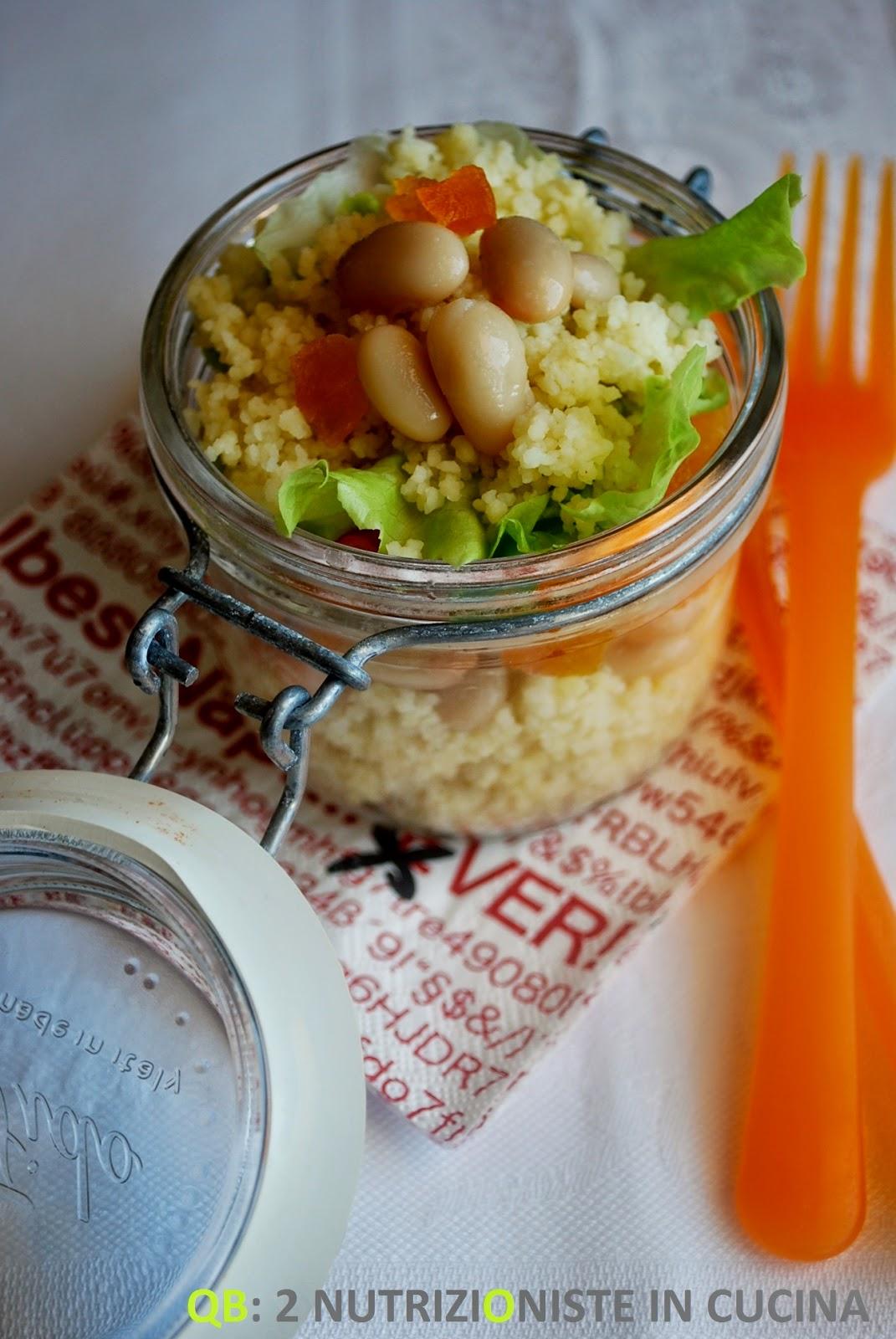 Cous cous con fagioli cannellini ed albicocche secche
