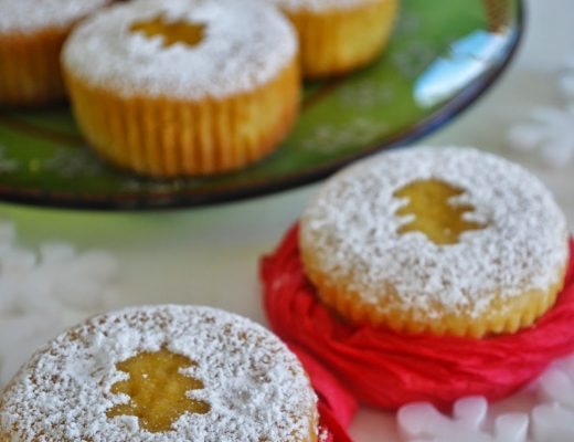 Mini orange Christmas cake