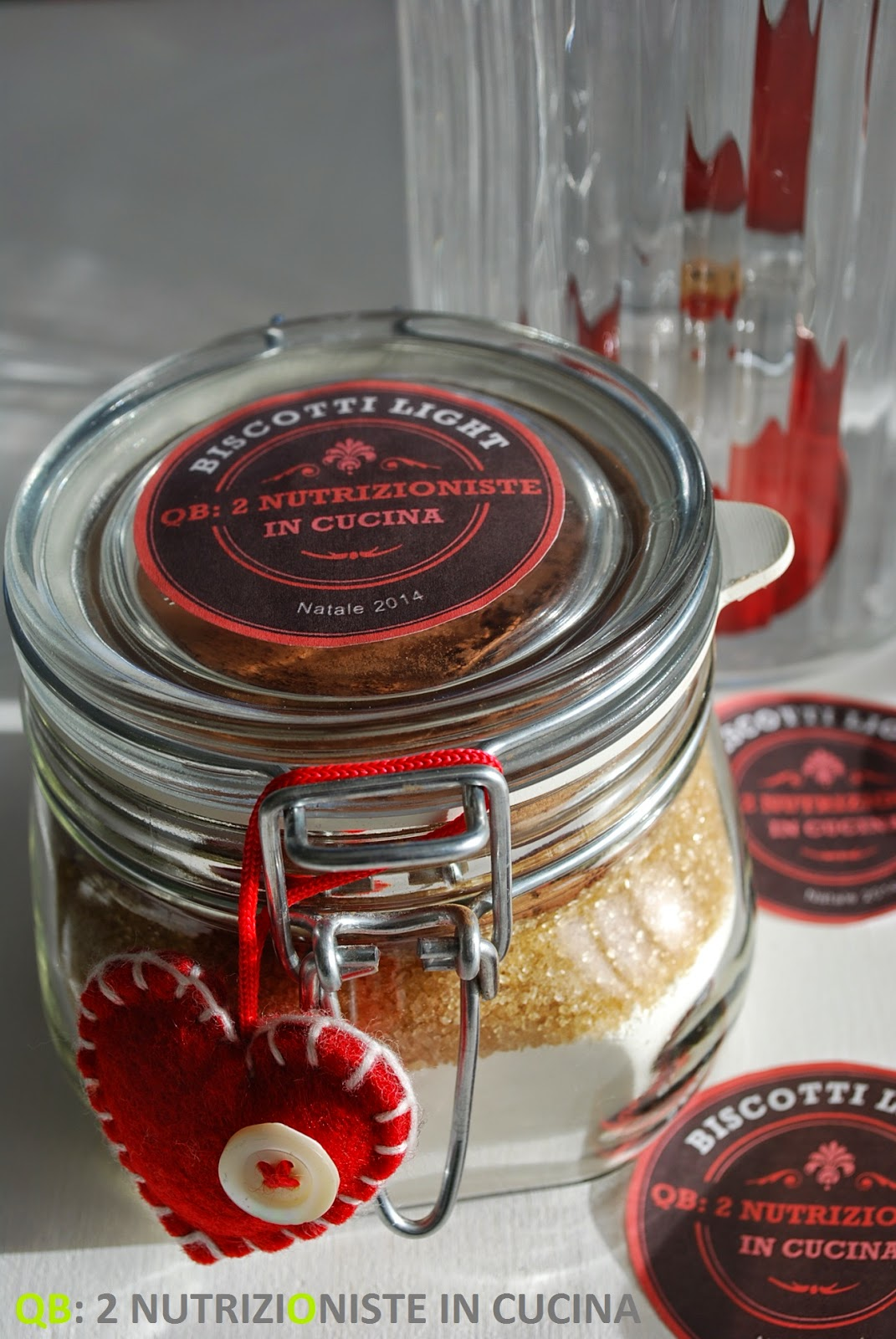 Light cookies in a jar un'idea regalo per Natale!