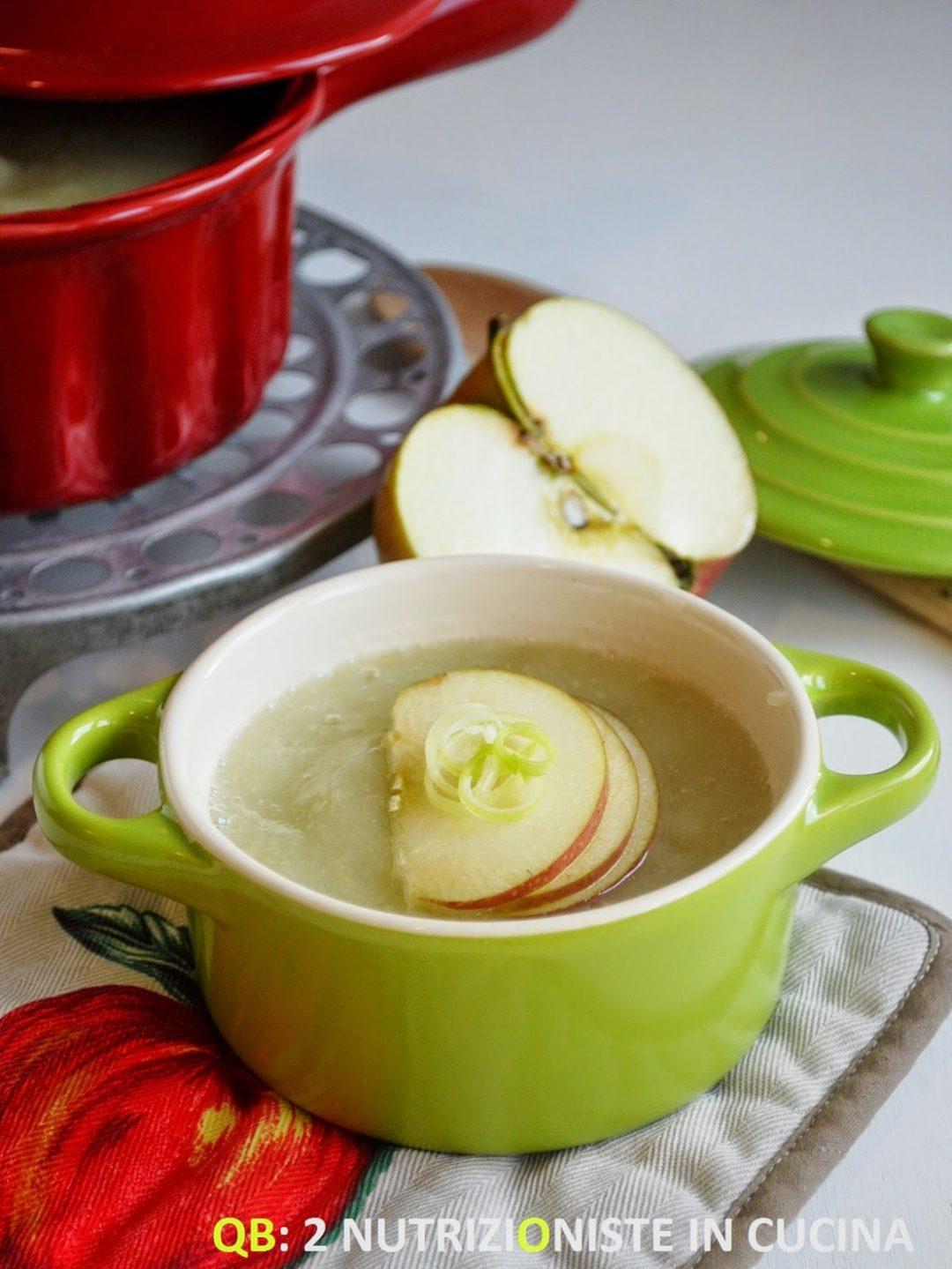 Vellutata di finocchi e mele