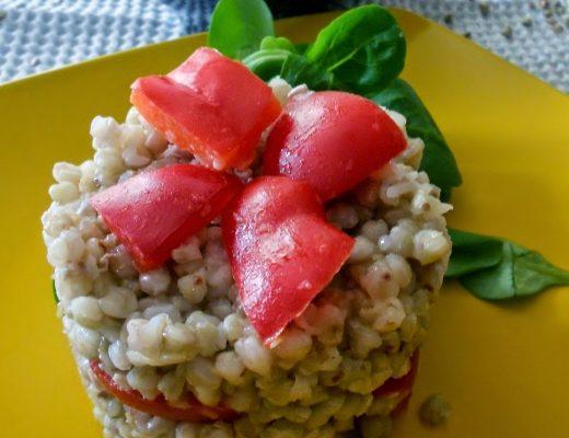 Torrette di grano saraceno con peperoni