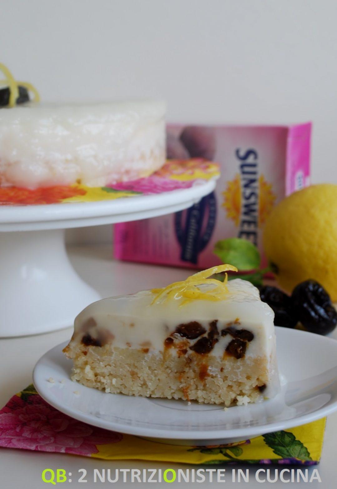 Cheese cake con cous cous alle prugne e al limone