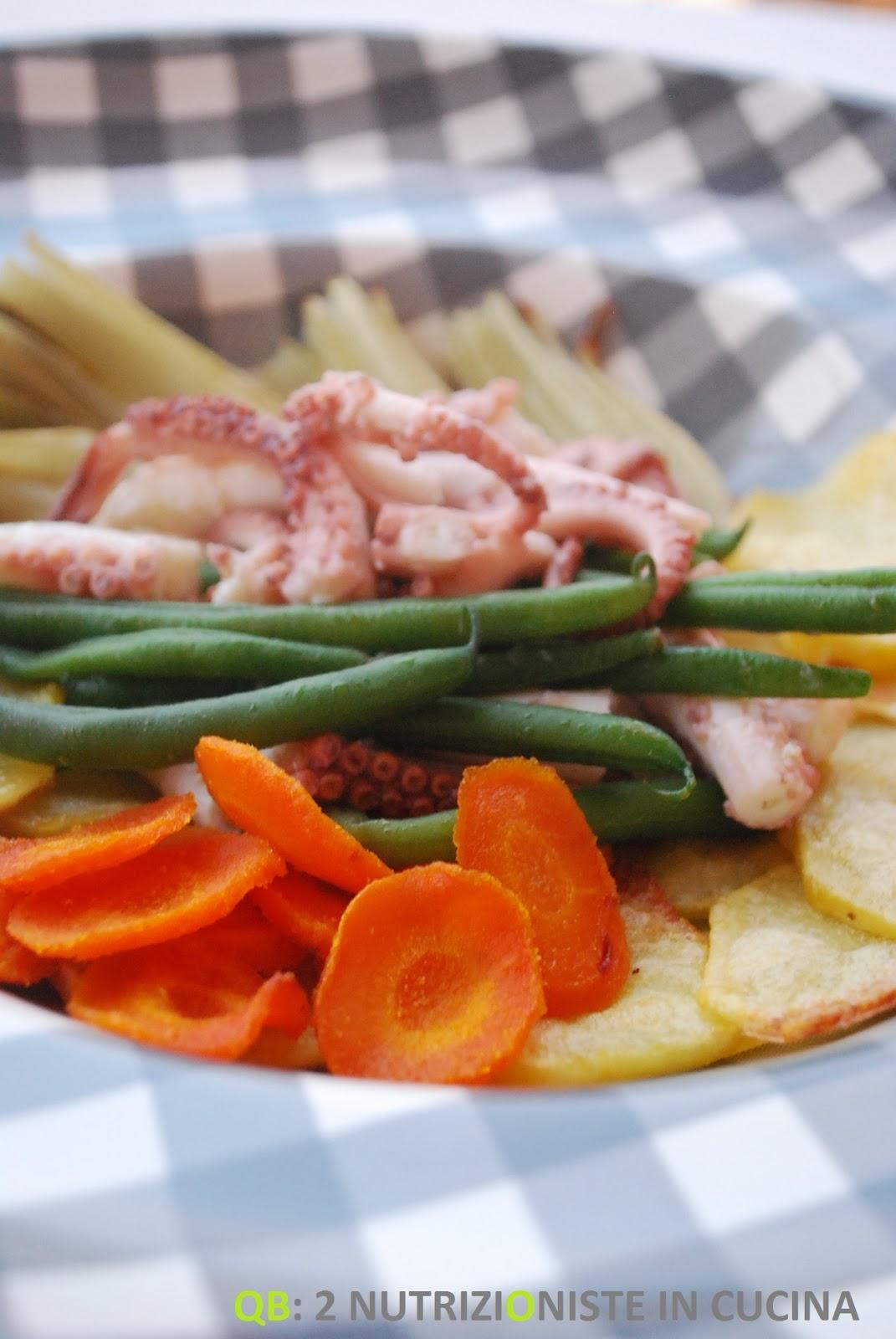 Polpo tiepido con verdure croccanti