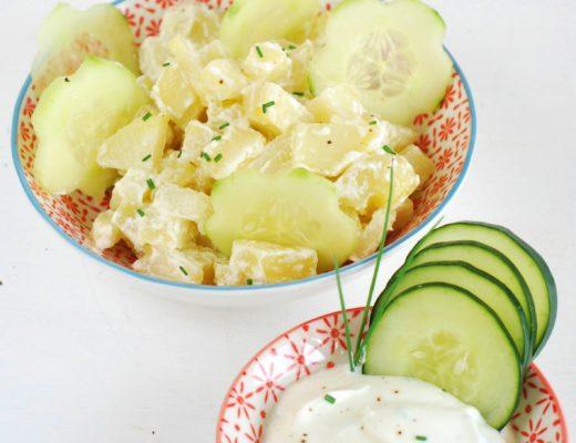 insalata di patate e di cetrioli