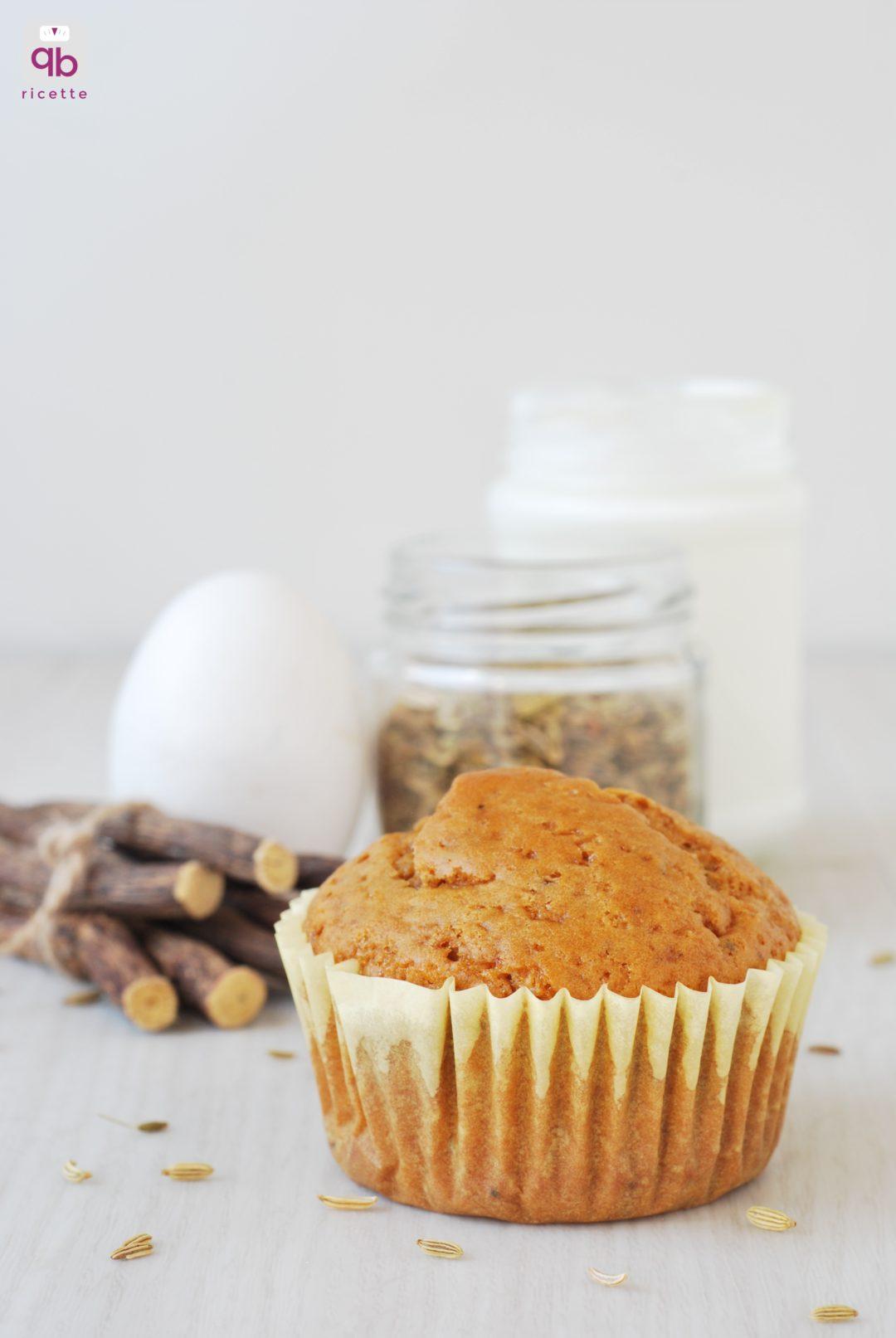 Conosciuto Muffin con semi di finocchio e liquirizia | QB Ricette BG77