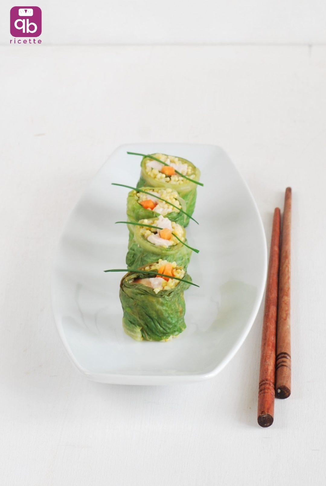 rolls di lattuga con tacchino