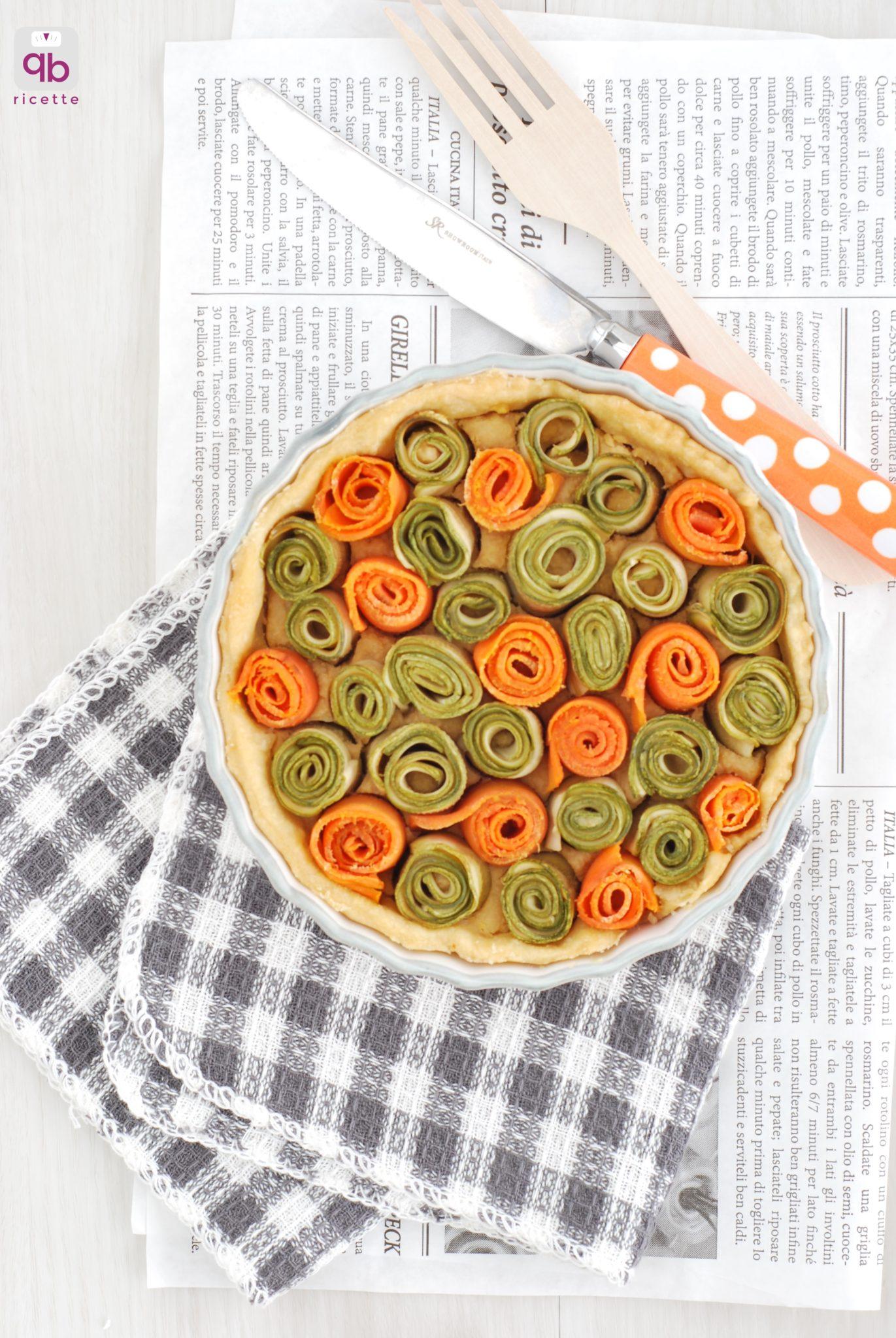 torta di rose carote e zucchine