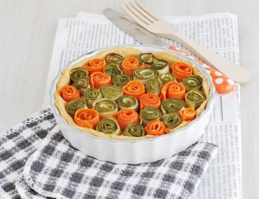 torta di rose di verdure