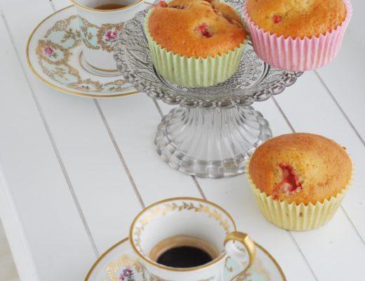 muffin fragole cuore cioccolato