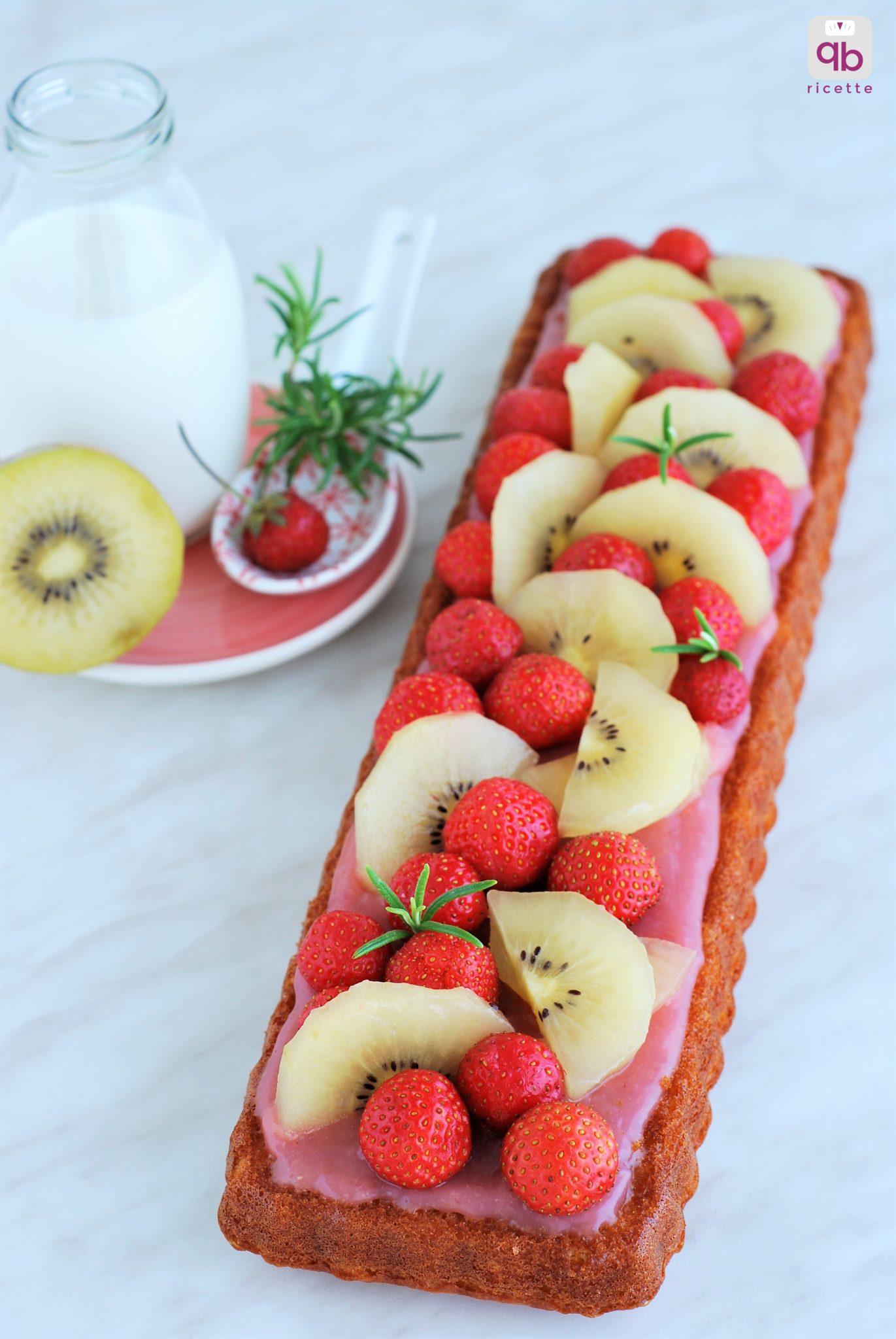 torta rosmarino fragole kiwi