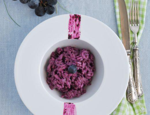 risotto con uva fragola