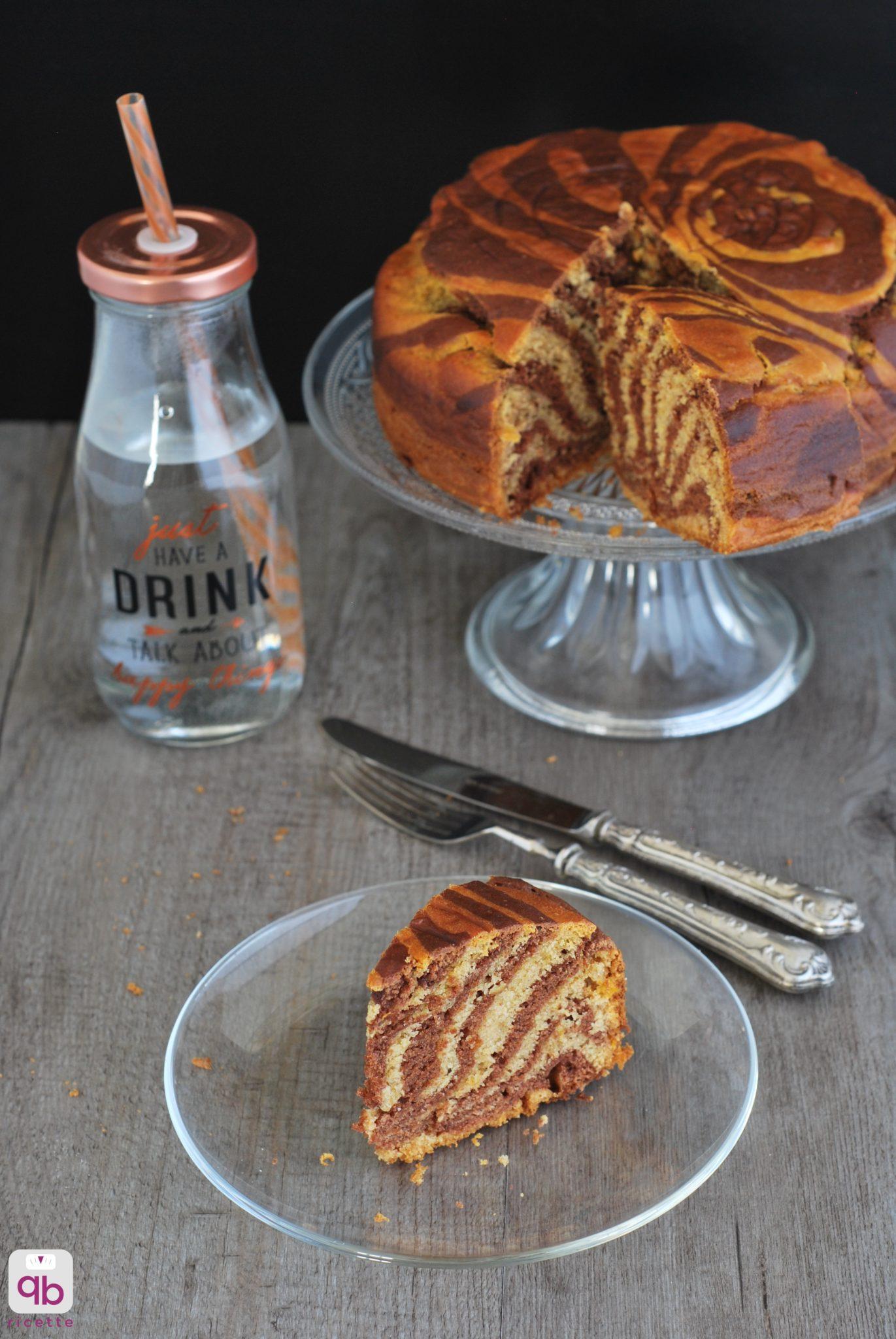 torta zebrata con cachi