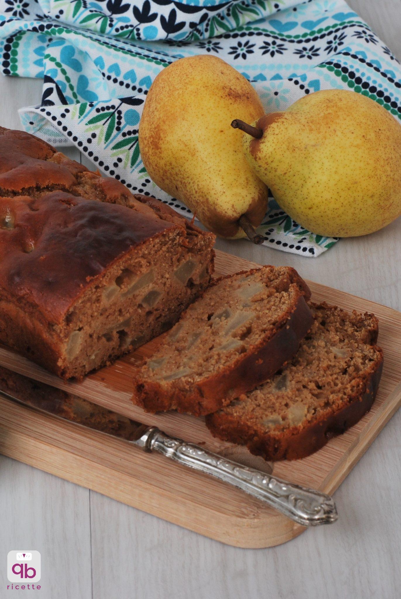 plumcake glutenfree castagne pere