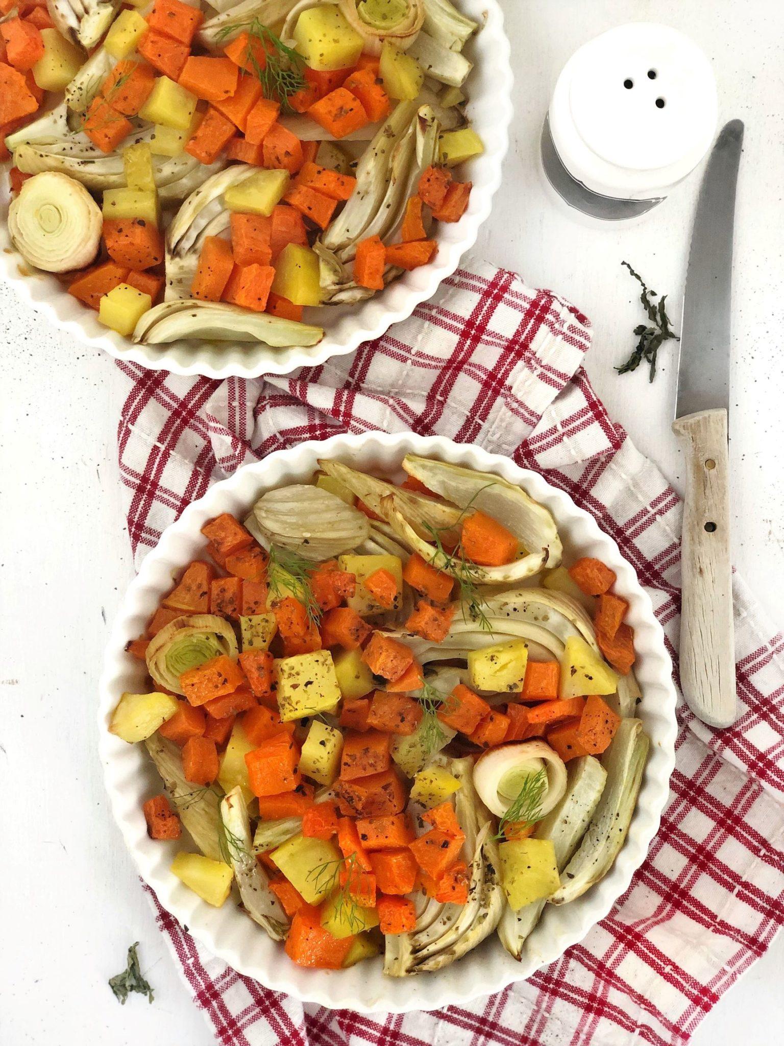insalata cotta, verdure al forno