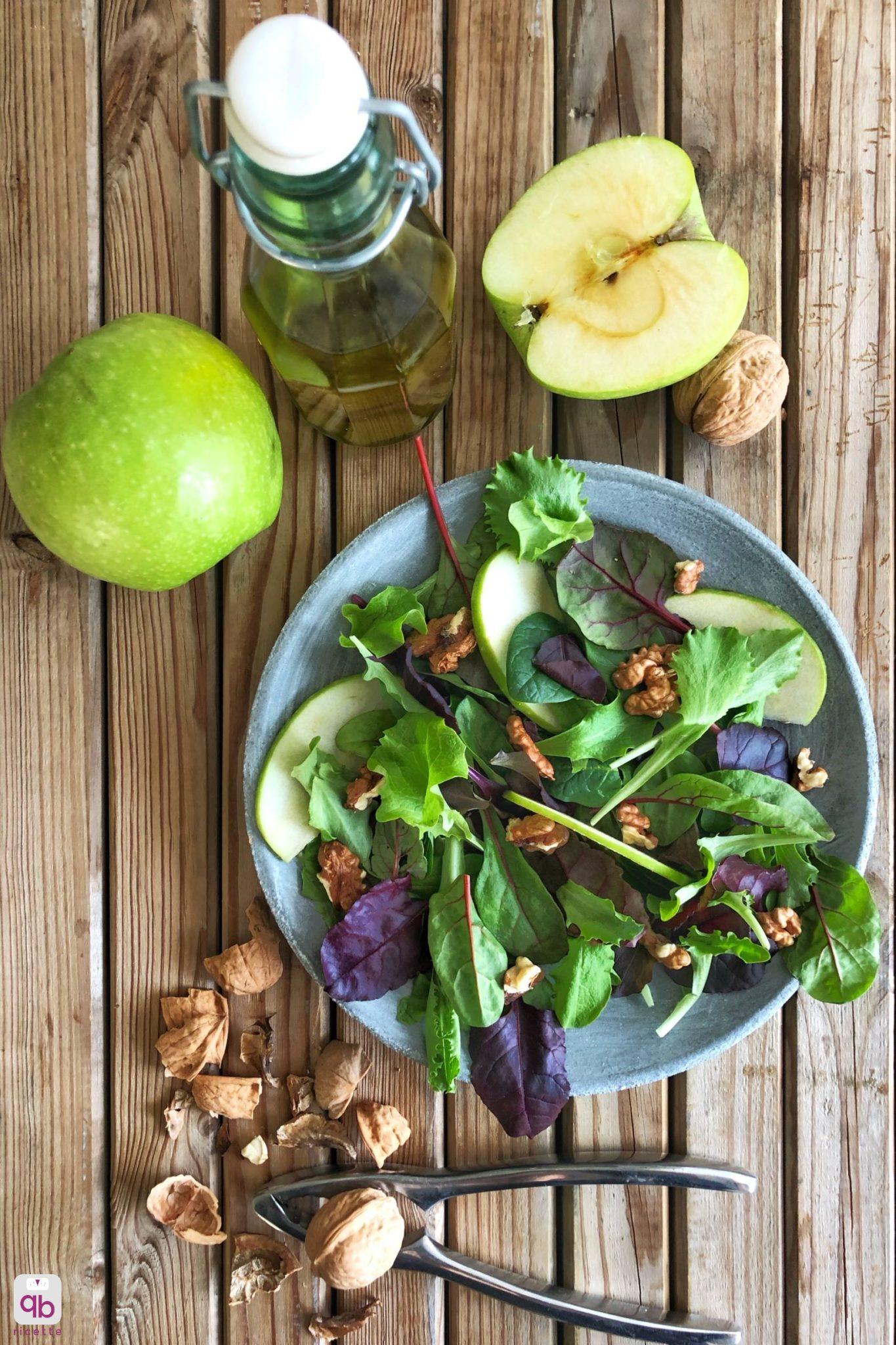 insalata con noci e mele