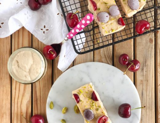 frozen yogurt caffè ciliegie