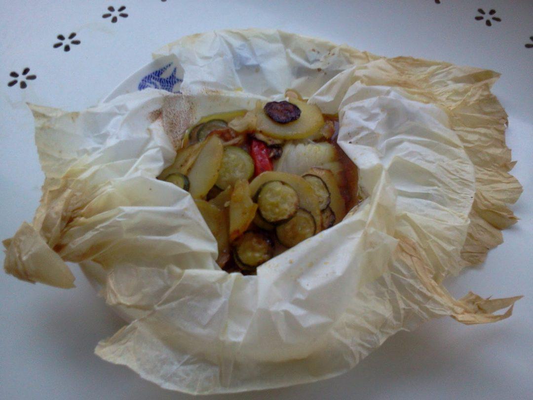Filetti di coda di rospo con verdure in salsa agrodolce