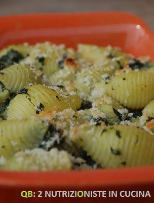 Conchiglie gratinate con spinaci e ricotta