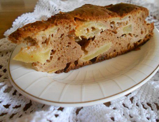 Torta di farina di castagne e mele con Stevia