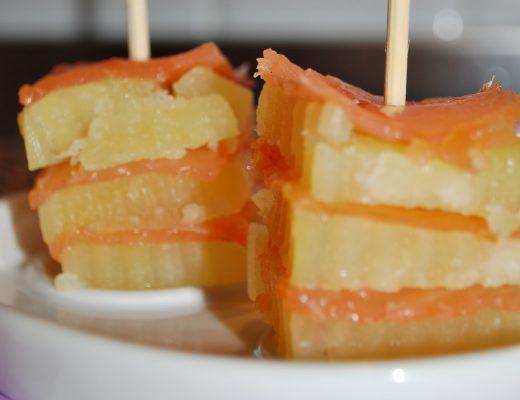 Torrette di salmone e patate