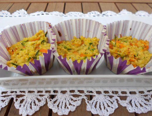 Tortini di miglio con zucchine e carote