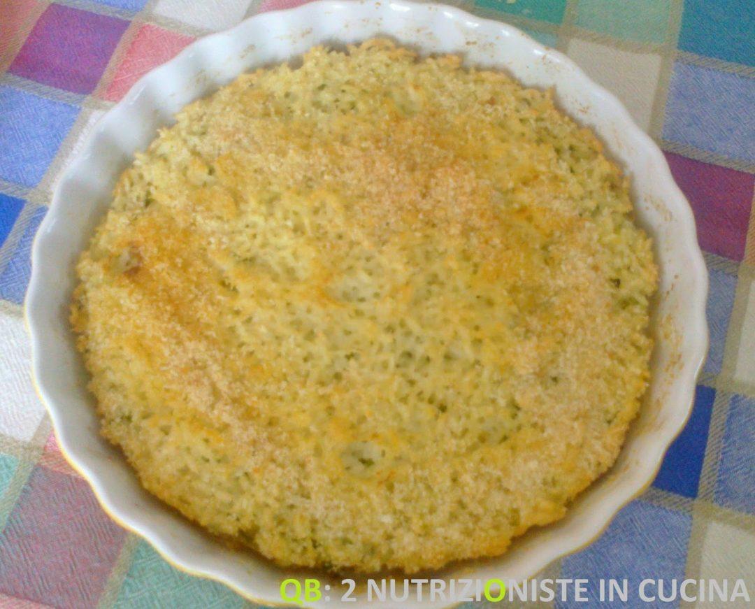 tortino di riso e zucchine