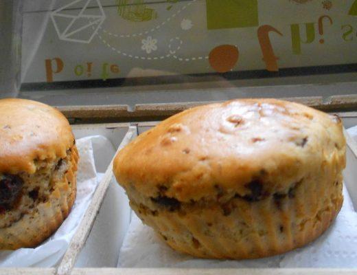 muffin senza burro e senza olio con gocce di cioccolata